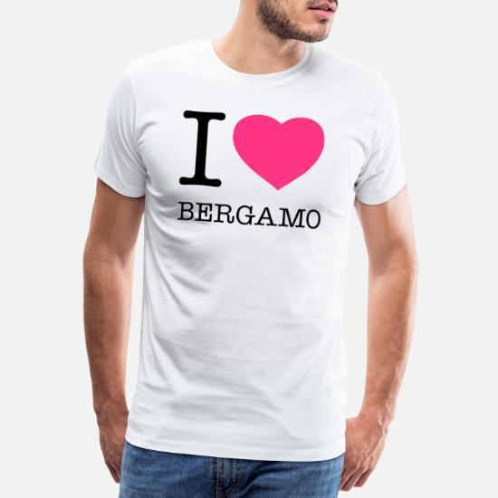 d3934a0c5eb79e ... BERGAMO - Maglietta premium uomo bianco. Personalizza