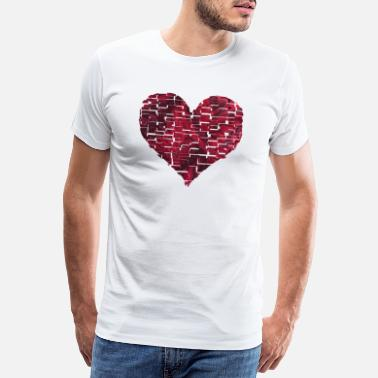 68 Birthday torn heart e 68 - Men's Premium T-Shirt