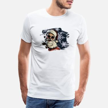 Bells santa face - Men's Premium T-Shirt