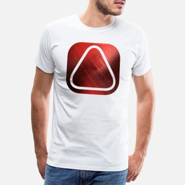 Initiale SQUARES VIERECKE ROT 20 - Männer Premium T-Shirt