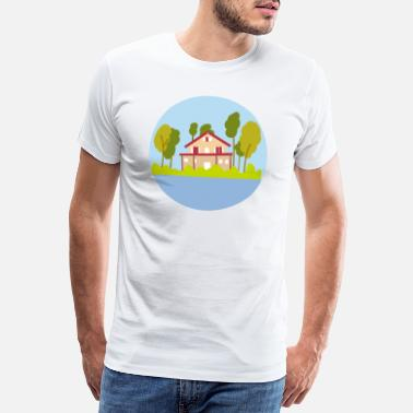 Villa Lake House - T-shirt premium Homme