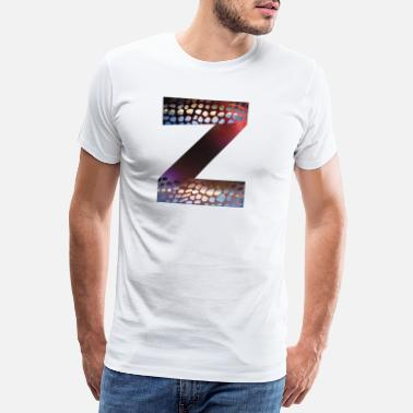 Alphabet Letters design colorful Z, symbol of diversity - Men's Premium T-Shirt