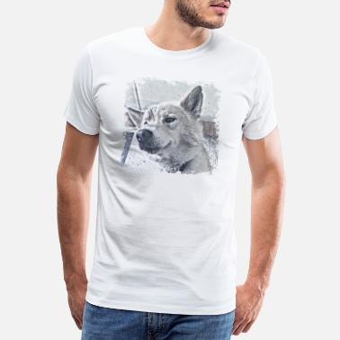 Husky Flash - Mannen premium T-shirt