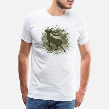 Antler deer - Men's Premium T-Shirt