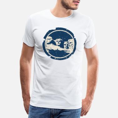 Lincoln Mount Rushmore - Mannen premium T-shirt
