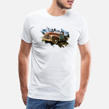 Pickup Line Old Pickup Truck - Men's Premium T-Shirt