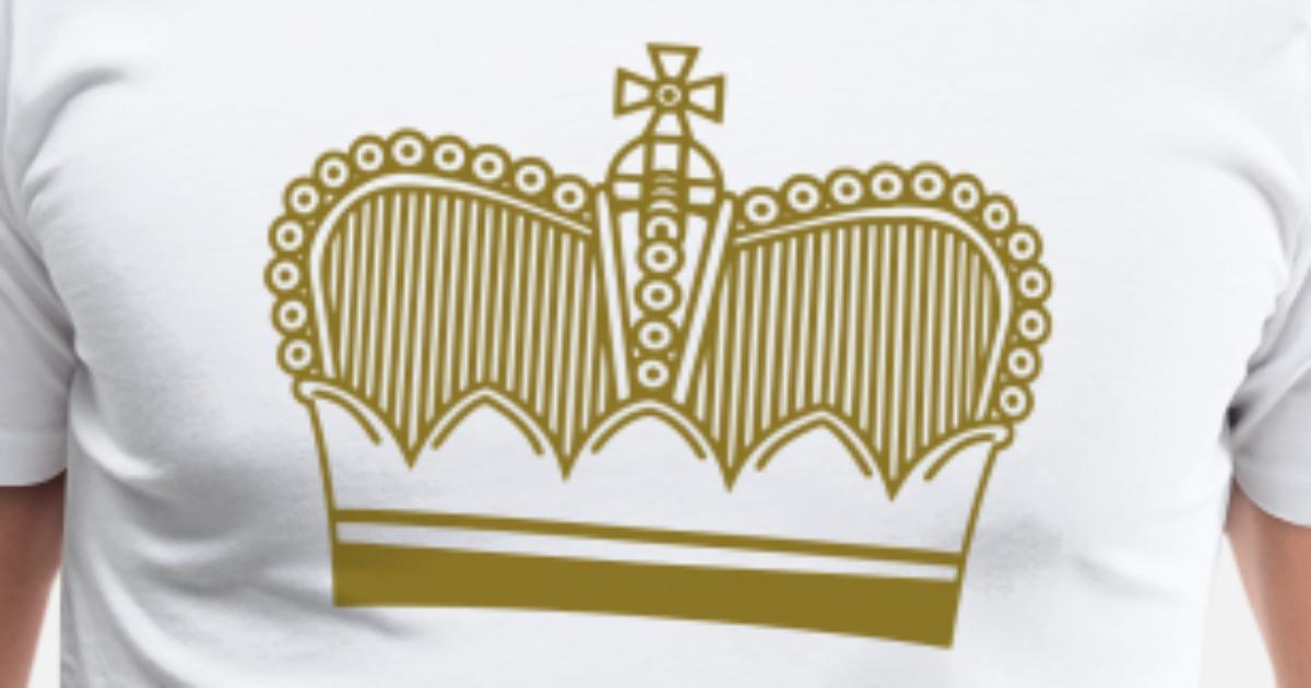 krona symbolen Premium T shirt herr | Spreadshirt