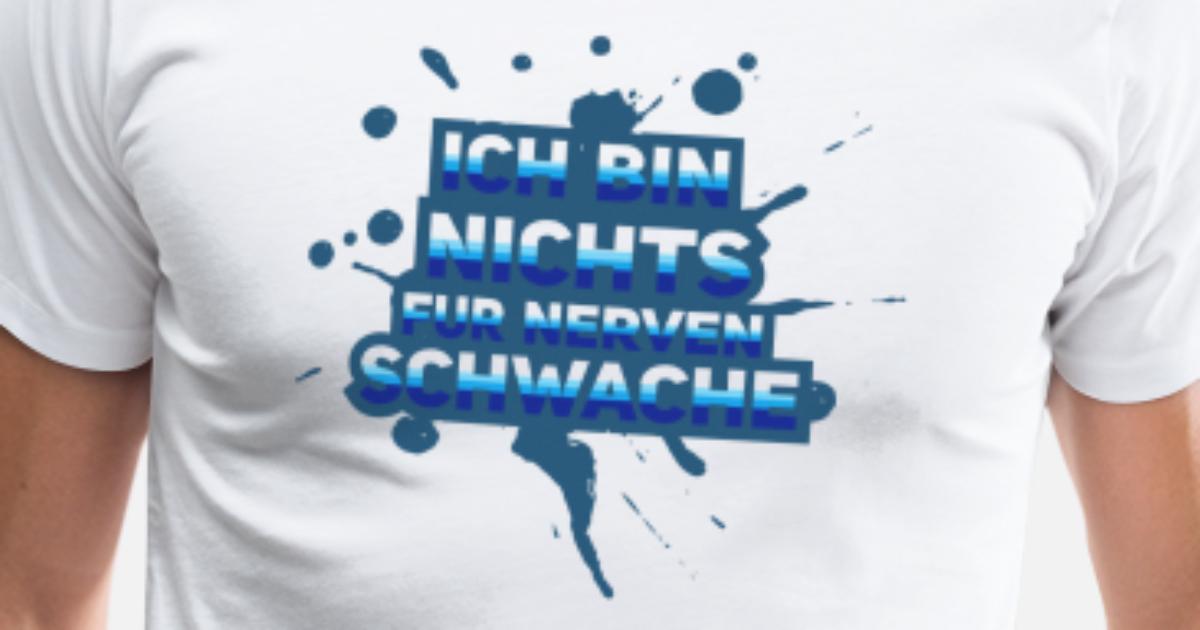 Statement Shirts Ich Bin Nichts f/ür schwache Nerven Comic Tanktop f/ür Damen und Frauen Tops