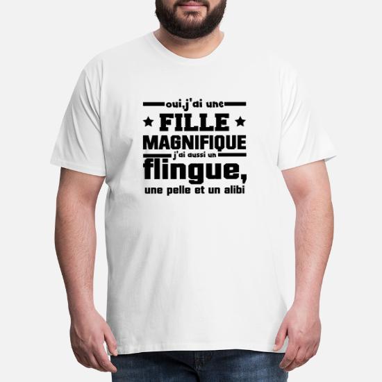 Père Oui J'Ai Une Fille Magnifique T Shirt Homme T shirt