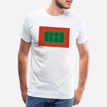 Court tennis court - Men's Premium T-Shirt