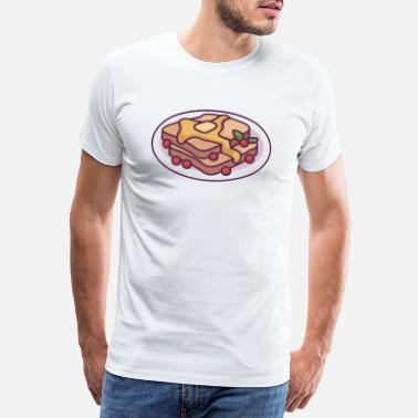 Swarm Toast Covered in Honey and Berries - Men's Premium T-Shirt