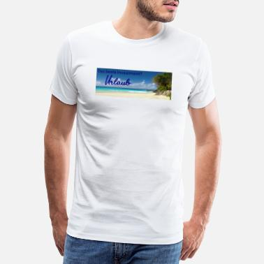 Summer Colours The best investment? Holiday summer sun beach - Men's Premium T-Shirt