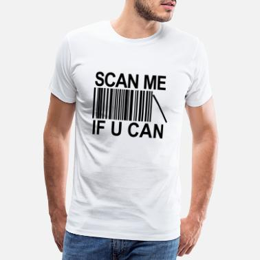 Barcode Lustig Scan me if you can barcode - Männer Premium T-Shirt