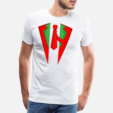 Stag Suit Christmas Xmas Christmas party - Men's Premium T-Shirt