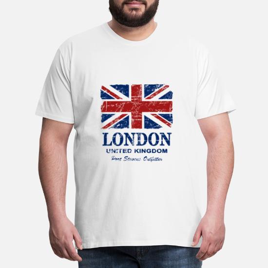 Union Jack London Vintage Look Männer Premium T Shirt