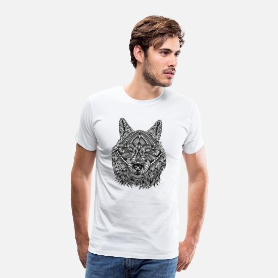 Animal T-Shirts - wolf - Men's Premium T-Shirt white