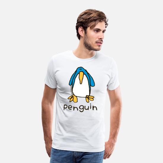 Door T-Shirts - 'penguin' -Bang on the door - Men's Premium T-Shirt white