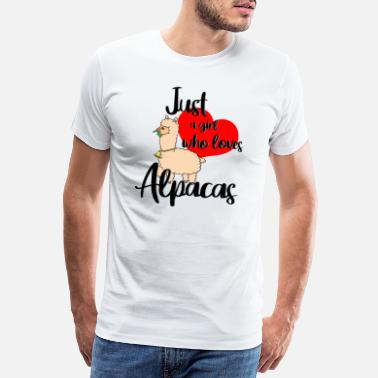 Bolivia Just a girl who loves alpacas. - Men's Premium T-Shirt