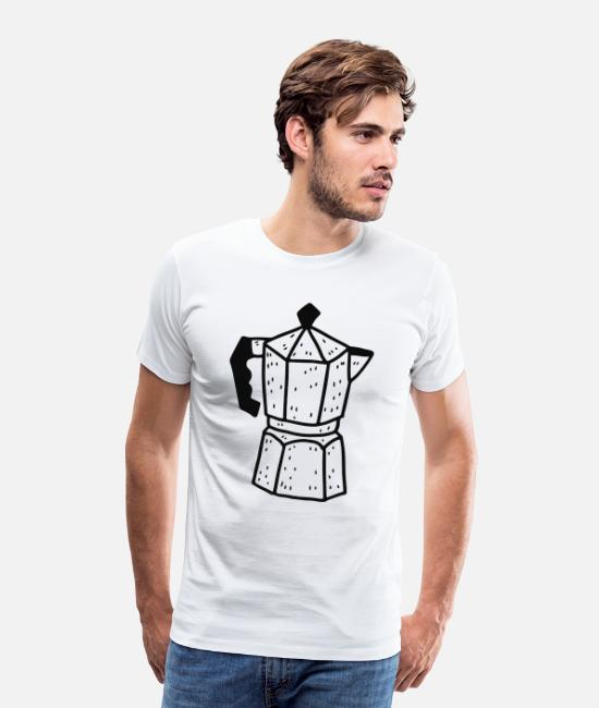 Wake Up T-Shirts - Espresso pot - Men's Premium T-Shirt white