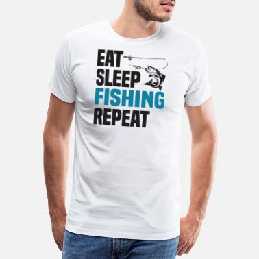 Fishing Eat Sleep Fishing Cooler Angler Spruch Geschenk - Männer Premium T-Shirt