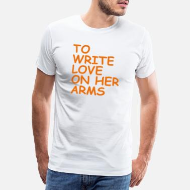 Nonprofit to write love on her arms orange - Männer Premium T-Shirt