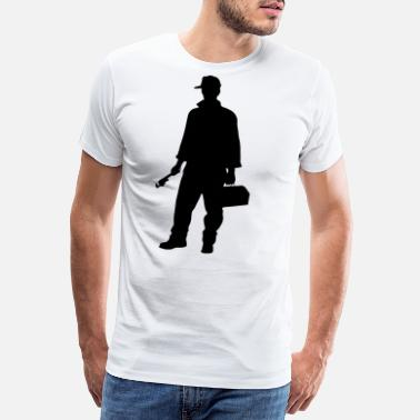 Såg carpenter profession people - Premium T-shirt herr
