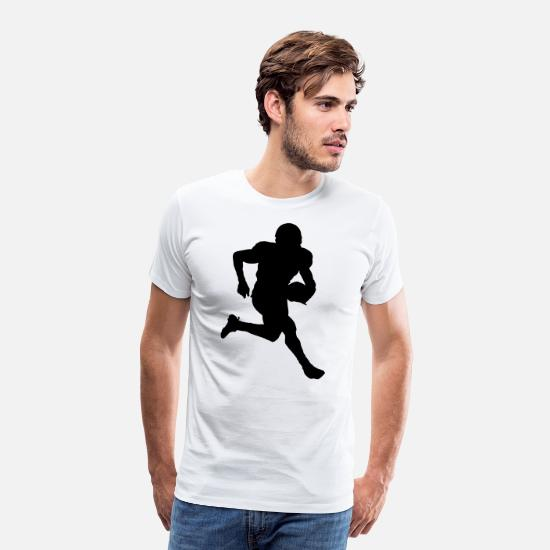 Down T-Shirts - American Football - Men's Premium T-Shirt white