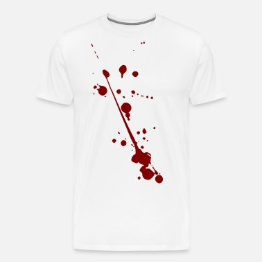 manchas de sangre Camiseta premium hombre  88357884fc9b0