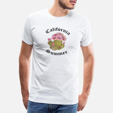 Arizona California Cactus Rose - T-shirt premium Homme