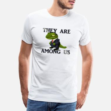 Reptil Lizardpeople among us - Männer Premium T-Shirt