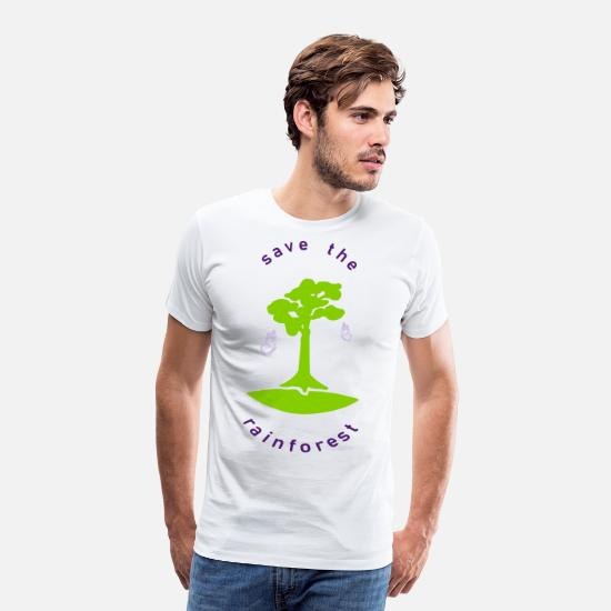 Eco T-Shirts - save the rainforest saves the rainforest - Men's Premium T-Shirt white