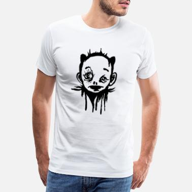 Weird Creepy Face - Strange Character - Men's Premium T-Shirt
