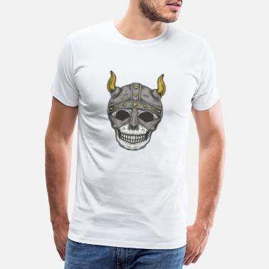 Viking skull - Men's Premium T-Shirt
