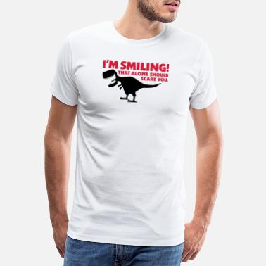 Thoughts I smile and that should make you afraid - Men's Premium T-Shirt