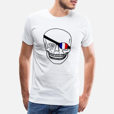 France Flag France skull flag - Men's Premium T-Shirt