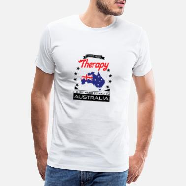 Aussie Australia - Better Than Therapy - Gift - Men's Premium T-Shirt