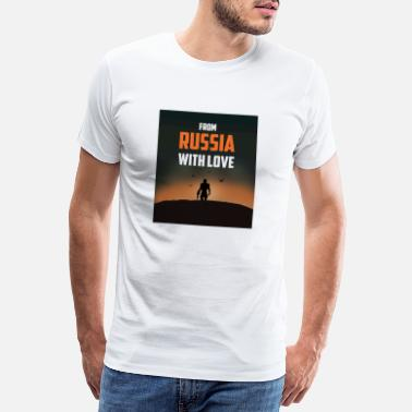 Cyrillic FROM RUSSIA WITH LOVE - Men's Premium T-Shirt