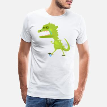 Rpg Dragons Dragon joins an RPG board game dice - Men's Premium T-Shirt
