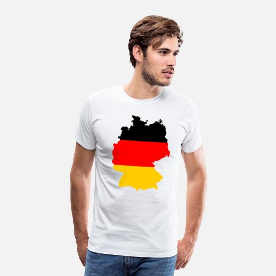 Gift Idea T-Shirts - Germany Country Outline Black Red Gold Gift - Men's Premium T-Shirt white
