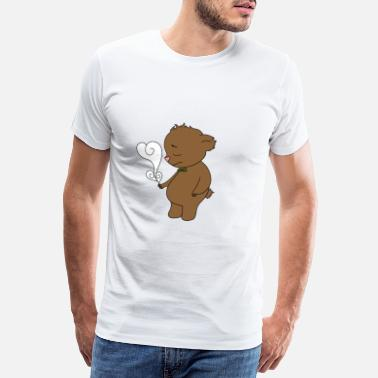 Plague Lonely Teddy Bear Teddy Bear Single Loneliness Solo - Men's Premium T-Shirt