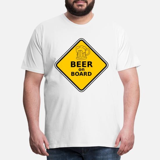 9dfc9458 Øl om bord mage øl gave menn morsomme Premium T-skjorte for menn ...