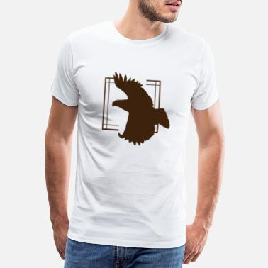 Bird Illustration Eagle - Eagle / Bird - Bird / Vulture - Vulture - Men's Premium T-Shirt