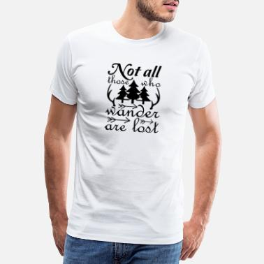 Antler Not all those who are are lost - Men's Premium T-Shirt