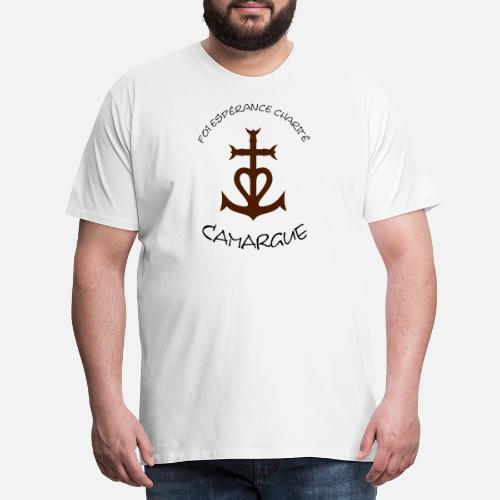 8d3ef98937a Croix camargue  foi esperance charite T-shirt premium Homme ...