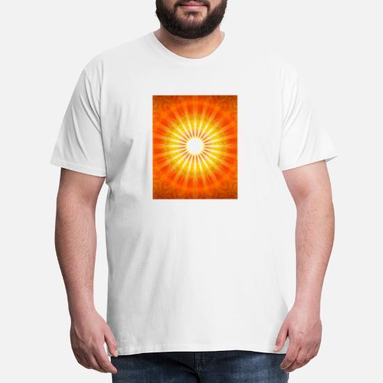 lys kærlighed sol mønster farve mobil spiritualite Premium T