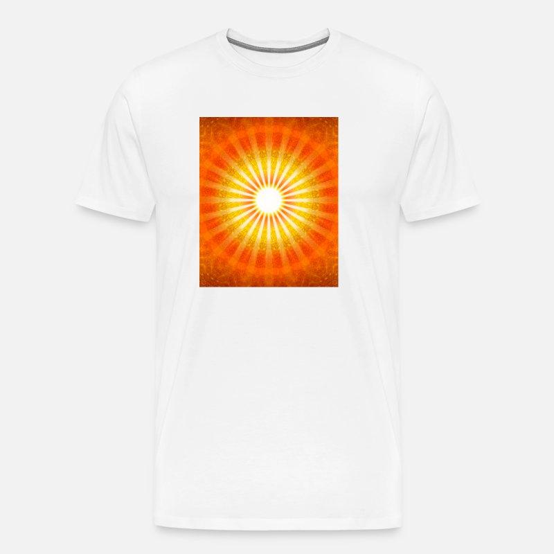 lys kærlighed sol mønster farve mobil spiritualite Herre premium T shirt grågrøn