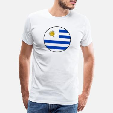 International Drapeau de l'Uruguay bannière cool fan fan de football - T-shirt Premium Homme