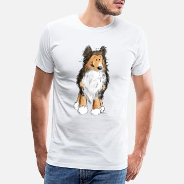 Elskerinne Little Sheltie I Shelties I Dogs Comic - Premium T-skjorte for menn