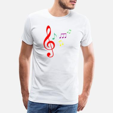 Fish Symbol Musical note music gift idea - Men's Premium T-Shirt