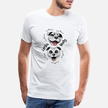 Bull Head Staffy Lenka and Mady - Santa Muerte - Men's Premium T-Shirt